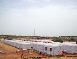 Installasjon av Modulære Administrasjons Hytter, som ble fullført i Senegal