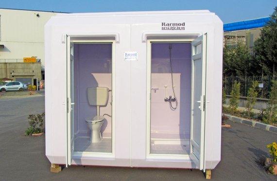 150x270 Flyttbar Toalett og Dusj Hytte