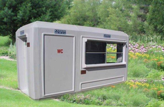 150x390 Flyttbar Toalett og Sikkerhetshytte