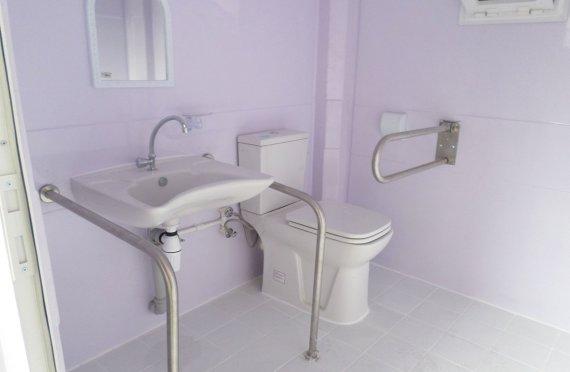 215x215 Flyttbar Handikappet Toalett Hytte