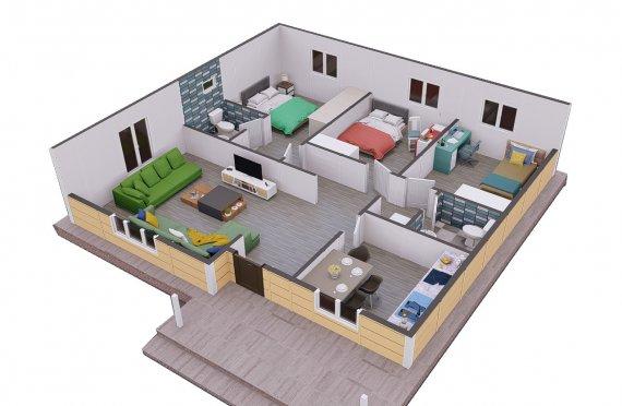 Ferdighus 103 m2