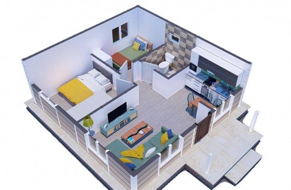 Ferdighus 45 m2