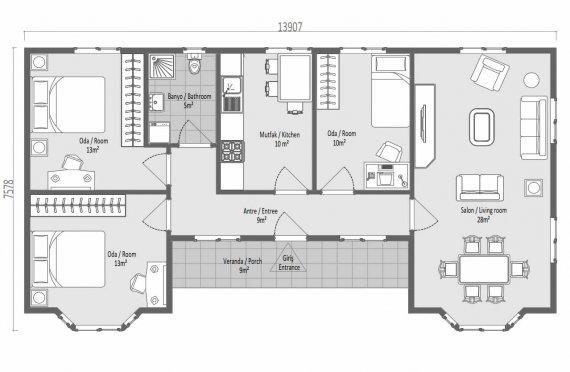 Ferdighus 97 m2