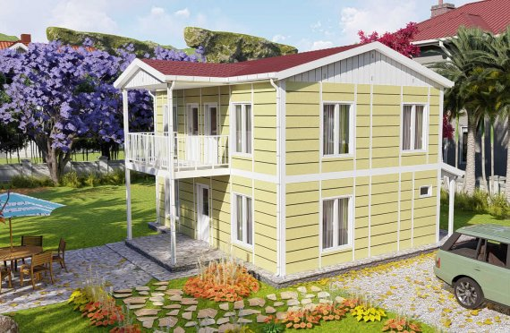 Ferdighus Villa 128 m2