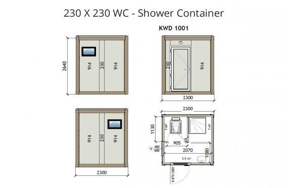 KW2 230X230 WC - Dusj Container