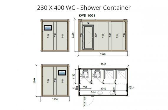 KW4 230X400 Dusj Container