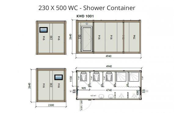 KW6 230X500 WC - Dusj Container
