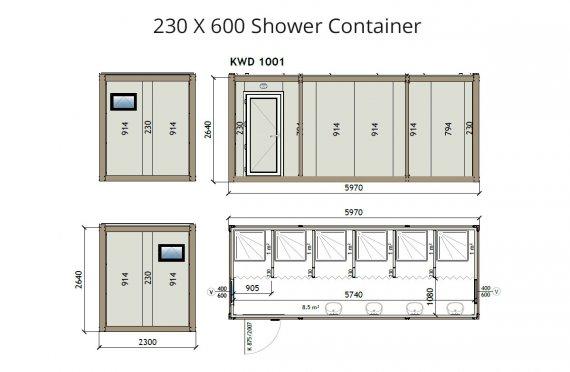 KW6 230X600 Dusj Container