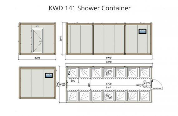 KWD 141 Dusj Container
