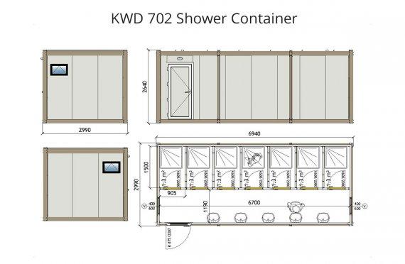 KWD 702 Dusj Container
