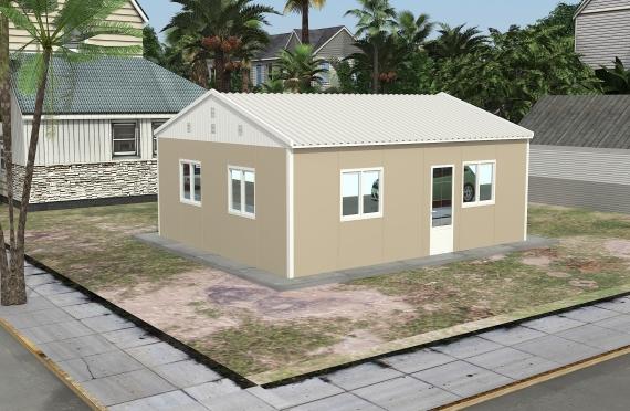 Modulær Kontor Bygning 49 m²