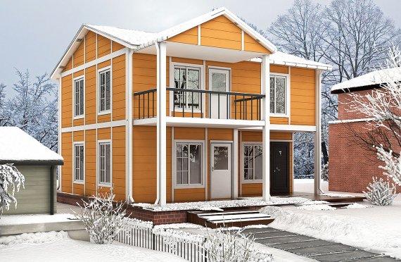 Prefabrikkerte hus 112 m²