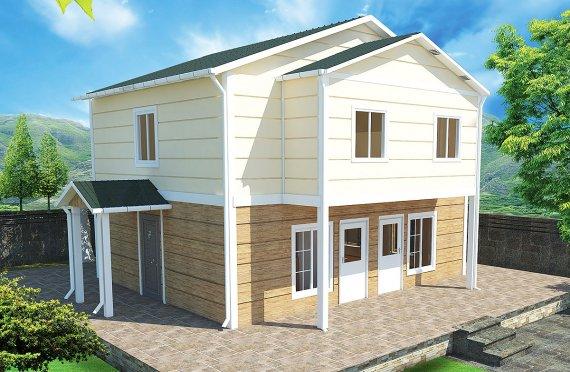Prefabrikkerte hus 114 m²