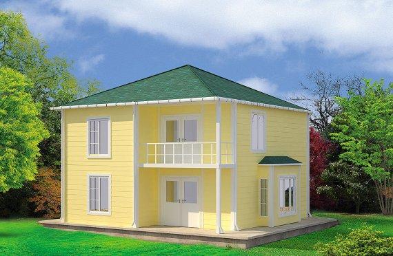 Prefabrikkerte hus 124 m²