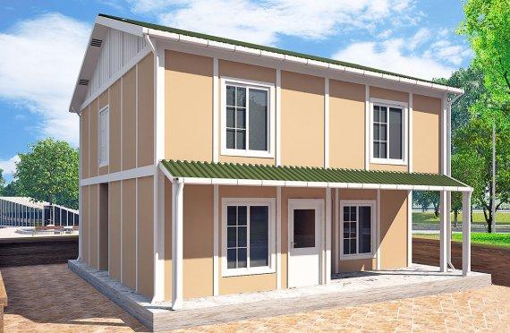 Prefabrikkerte hus 127 m²