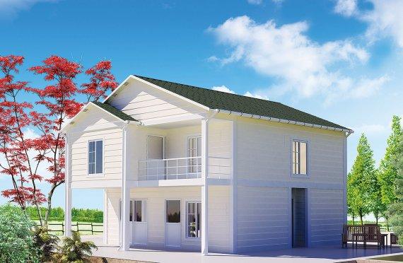 Prefabrikkerte hus 130 m²