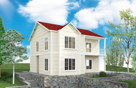 Prefabrikkerte hus 132 m²