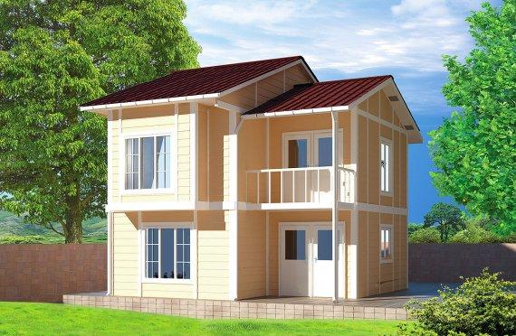 Prefabrikkerte hus 91 m²