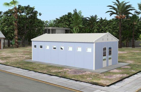 Prefabrikkert Toalett- og Dusj Bygning 52 m²