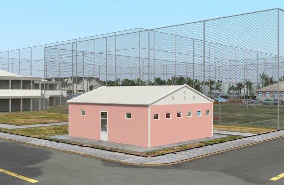 Prefabrikkert Toalett- og Dusj Bygning 70 m²