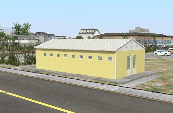 Prefabrikkert Toalett- og Dusj Bygning 82 m²