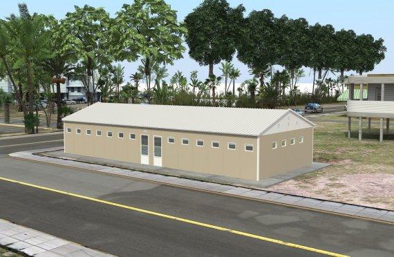 Prefabrikkert Toalett- og Dusjbygning 145 m²