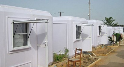 Montering av administrasjons bygninger i Senegal er fullført