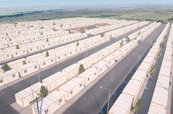 Container boligprosjekt for syriske flyktninger