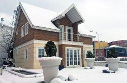 Prefabrikhus med dobbelt etasje